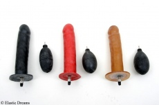 Inflatable dildo with valve and pressure ball Ø 38mm optional solid core