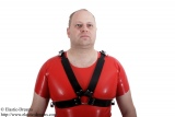 Harness for upper part of the body option lockable