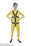 Harness for women with optional dildos/plugs and lockable