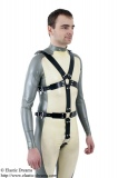 Harness for man with optional dildos/plugs and lockable