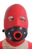 Hollow gag harness option lockable