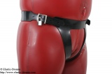 Forced belt with inflatable plug option lockable