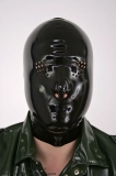 Mask with grid eyes and nose openings