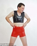 Gents hotpants crotch open or zipper