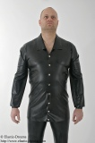 Gents shirt blouse style buttoned extra long