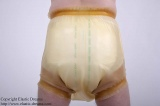 Diaper pants with broad wristband