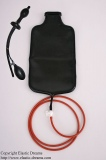Enema set enema plug and bag