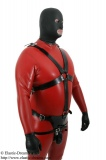 Chastity belt for men with harness and inflatable plug