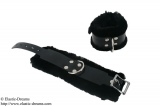 Hand cuffs deluxe with art fur, black