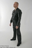 Trousers long wide leg and gents shirt blouse style buttoned