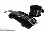 Feet cuffs deluxe with art fur, black