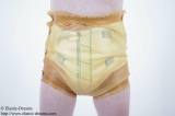 Diaper pants with broad wristband and push buttons