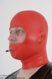 Anatomical discipline mask 2mm w. inflatable gag
