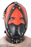 Rubber muzzle with collar and inflatable butterflygag
