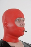 Anatomical discipline mask 0,6mm w. inflatable gag and zipper